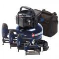 Campbell Hausfeld 6-Gallon Pancake Air Compressor w/ 4-Nailer Kit MW250096AV
