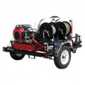 Pressure-Pro 3500 PSI (Gas-Cold Water) Trailer Pressure Washer With Belt-Drive