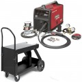 Lincoln Power MIG 180C MIG Welder Package With Deluxe Cart