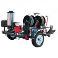 Pressure Pro 4000 PSI (Gas-Hot Water) Direct Drive Trailer Pressure Washer