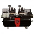 Chicago Pneumatic 10-HP 120-Gallon Two-Stage Duplex Air Compressor (208/230V 1-Phase)