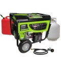 Smarter Tools 7,500-Watt Propane (LPG) Gasoline Powered Generator with Electric Start CARB Approved Battery and No Flat Wheels
